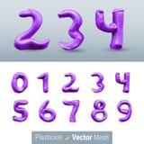 Reeks van het Cijfer van de Kleurenplasticine Stock Afbeeldingen