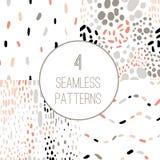 Reeks van het confettien de naadloze patroon stock illustratie