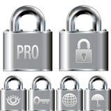 Reeks van het de veiligheids de professionele pictogram van Internet Royalty-vrije Stock Foto