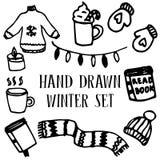 Reeks van het de winter de comfortabele materiaal Royalty-vrije Stock Foto's