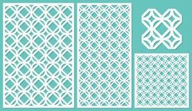 Reeks van het decoratieve knipsel van de panelenlaser vector illustratie
