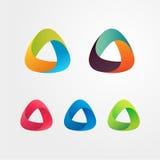 Reeks van het driehoeks de abstracte embleem Stock Afbeelding