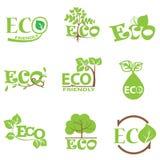 Reeks 5 van het ecologie groene pictogram royalty-vrije illustratie