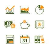 Reeks van het financiën de eenvoudige vectorpictogram Stock Foto's