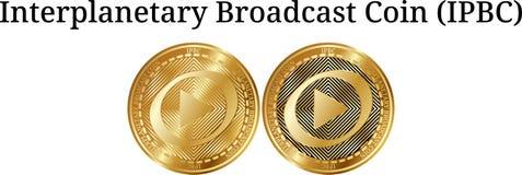 Reeks van het fysieke gouden Muntstuk IPBC van de muntstuk Interplanetaire Uitzending Stock Foto's