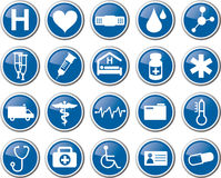 Reeks van het gezondheidszorg de medische pictogram Royalty-vrije Stock Fotografie