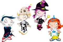 Reeks van het Karakter van Halloween Royalty-vrije Stock Fotografie