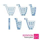 Reeks van het karretje de roterende pictogram kaders Royalty-vrije Stock Fotografie