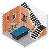 Reeks van het kelderverdiepings de isometrische pictogram vector illustratie