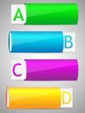 Reeks van het kleurrijke malplaatje van de optiesbanner. Royalty-vrije Stock Afbeeldingen