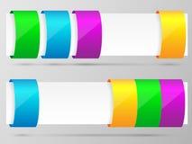 Reeks van het kleurrijke malplaatje van de optiesbanner. Royalty-vrije Stock Afbeelding