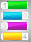 Reeks van het kleurrijke malplaatje van de optiesbanner. Royalty-vrije Stock Foto