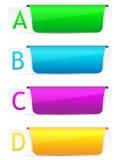 Reeks van het kleurrijke malplaatje van de optiesbanner. Royalty-vrije Stock Fotografie