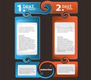 Reeks van het Kleurrijke Vakje van de Tekst Stock Afbeelding