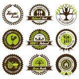 Reeks van het landbouwbedrijf de verse etiket Royalty-vrije Stock Foto's