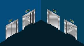 Reeks van het lift de isometrische ontwerp Stock Afbeelding