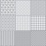Reeks van het lijn de zwart-witte patroon vector illustratie