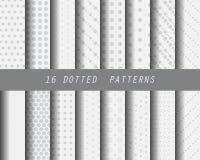 Reeks van het lijn de zwart-witte patroon Stock Fotografie