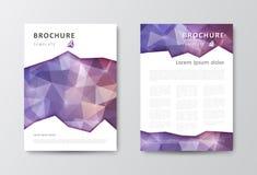Reeks van het malplaatje van het brochureontwerp met driehoekige achtergronden Stock Foto