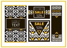 Reeks van het malplaatjeontwerp van de verkoop abstract banner Geometrische Achtergrond Voor dekkingsboek, brochure, flayer, affi Stock Foto