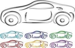 Reeks van het ontwerp van de Auto in 3D Royalty-vrije Stock Foto's