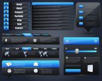 Reeks van het Ontwerp van de Elementen van het Web de Vector Royalty-vrije Stock Afbeeldingen