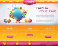 Reeks van het Ontwerp van het Malplaatje Web van het bedrijfs van de Stijl de Vector Vector Illustratie
