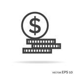 Reeks van het pictogram zwarte kleur van het geldoverzicht Royalty-vrije Stock Foto