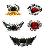 Reeks van het rennen van emblemen Royalty-vrije Stock Afbeelding