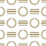 Reeks van het vector naadloze patroon van de juwelenlijn De kleurrijke inzameling van de diamantluxe Ketting en armbandsilhouette Stock Foto