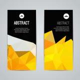 Reeks van het veelhoekige driehoekige kleurrijke boekje van de achtergrondbannersaffiche met wervelingen voor modern ontwerp, gra stock illustratie