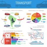 Reeks van het vervoer de infographic concept Stock Afbeelding