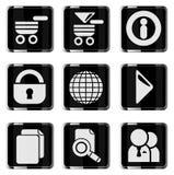 Reeks van het website de vector glanzende pictogram Royalty-vrije Stock Afbeelding