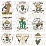Reeks van het wilde westen stock illustratie