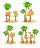 Reeks van houten teken Royalty-vrije Stock Foto