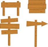 Reeks van houten teken royalty-vrije stock afbeeldingen