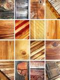 Reeks van houten textuur Royalty-vrije Stock Afbeeldingen
