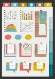 Reeks van infographic inzameling Royalty-vrije Stock Fotografie