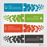 Reeks van Infographics Stock Fotografie