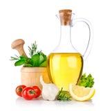 Reeks van ingrediënten en kruid voor voedsel het koken Stock Fotografie