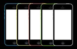 Reeks van iPhone 5c royalty-vrije illustratie