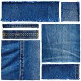 Reeks van jeansstof royalty-vrije stock foto