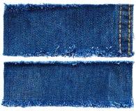 Reeks van jeansstof royalty-vrije stock afbeelding