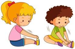 Reeks van jongen en meisjesrek vector illustratie