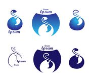 Reeks van kat logotype dierenwinkelembleem en veterinair kliniekenconcept Stock Afbeelding
