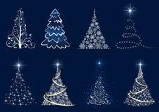 Reeks van Kerstboom Royalty-vrije Stock Afbeelding