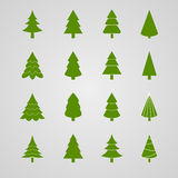 Reeks van Kerstboom Stock Foto