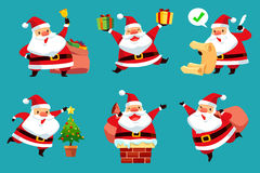 Reeks van Kerstmis Santa Claus Stock Foto's