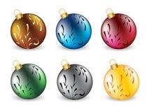 Reeks van Kerstmisbal Vector Illustratie
