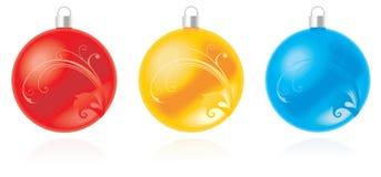 Reeks van Kerstmisbal Stock Afbeeldingen